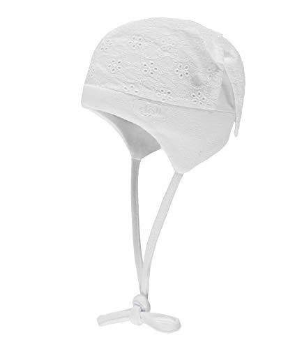 Döll Baby-Mädchen Kopftuchmütze zum Binden Sonnenhut, Weiß (Bright White|White 1000), 47