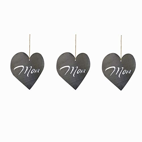 Acrylic Heart & Rose Art Gift for Mum Birthday Thank Love Miss You, Mother's Day Pendant Keepsake Home Decoration