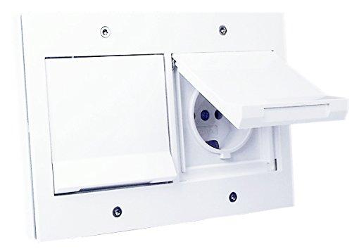 Gira TX 44 Doppel-Steckdose und Abdeckrahmen - weiß
