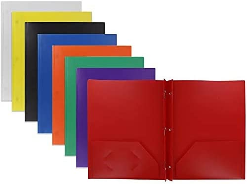 Emraw 2 Inexpensive Pocket Poly Portfolio Two 3 with Max 64% OFF a Folder Prongs Pockets