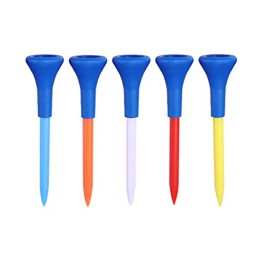 Read About LIOOBO 5pcs 7.0cm T154 Plastic Golf tees Professional Golf Horn tee Golf Equipment (Assor...