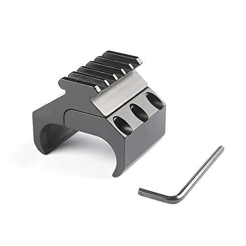 WQ-HUNTING, Doble Tubo Rifle Picatinny Adaptador de Carril para 20 mm Weaver Cola de Milano Montaje en Carril Caza táctica Bipod Linterna láser Vista Base