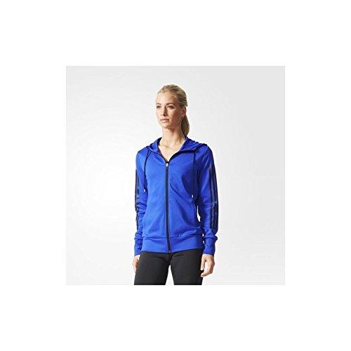 adidas Gym Hoody - Sudadera para Mujer, Color Azul/Negro, Talla XS