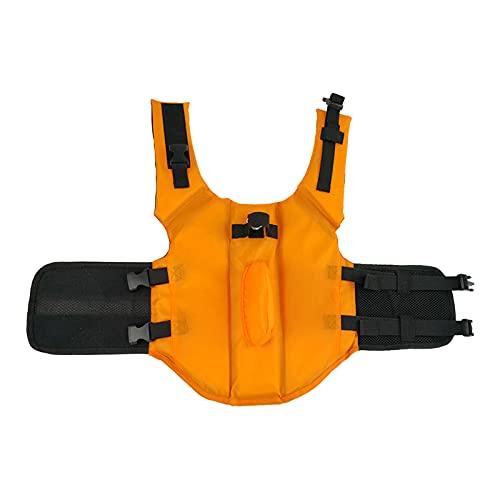 Chaleco salvavidas para mascotas, traje de baño para perros, con aleta de tiburón, chaleco salvavidas profesional con mango de rescate ajustable (naranja) (XS)