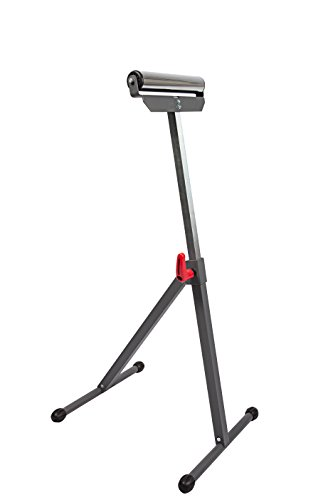 PROTOCOL Equipment Single Roller Stand Workstation Support, Durable Steel Construction, Adjustable Height, Foldable for Portability, 132 lb. Capacity