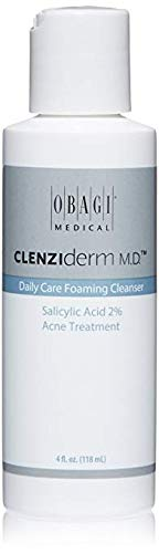 Obagi CLENZIderm M.D. Daily Care Foaming Cleanser Salicylic Acid 2% Acne Treatment, 4 Fl Oz Pack of 1