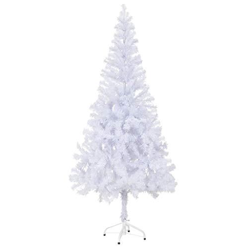 vidaXL Albero Natale Artificiale 180 cm Bianco Folto 620 Rami Abete Natalizio