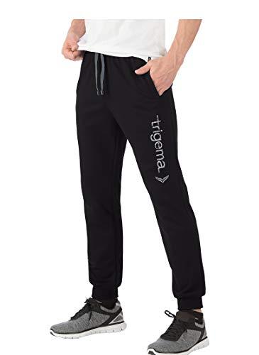 Trigema 674043618 Pantalon de Sport, Noir (Schwarz 008), (Taille du Fabricante : S) Homme