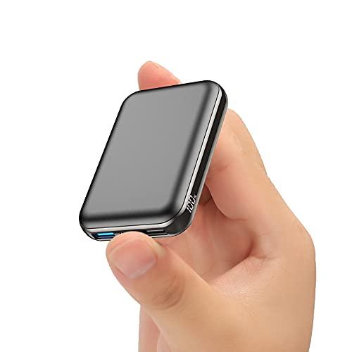 Power Bank 10000mah, 22.5W PD 3.0 QC4.0 Batería Externa Movil con 3 Uscite 5A (USB+USB C) e 2 Ingresso (USB C+Micro), Pantalla LCD Bateria Portatil para Phone 12 Samsung Xiaomi Huawei Pad Tableta