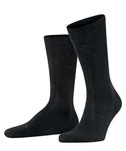 FALKE Herren Socken Sensitive London, Baumwolle, 1 Paar, Schwarz (Black 3000), 47-50 (UK 11.5-14 Ι US 12.5-15)