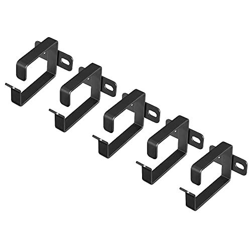 kwmobile Anilla para organizar Cables - Set de 5X Gancho para organización de Rack de Cables - Soportes metálicos para Panel de conexión de Cable