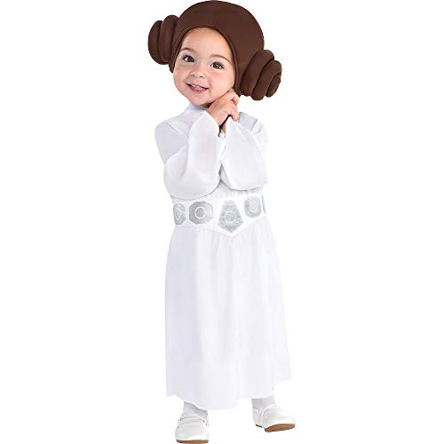 Party City Princess Leia Halloween Costume for Babies, Star Wars, 0-6 Months, Includes Accessories