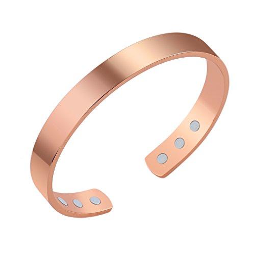 Olddreaming - Pulsera magnética unisex de cobre puro y energía magnética para cuidado de la salud