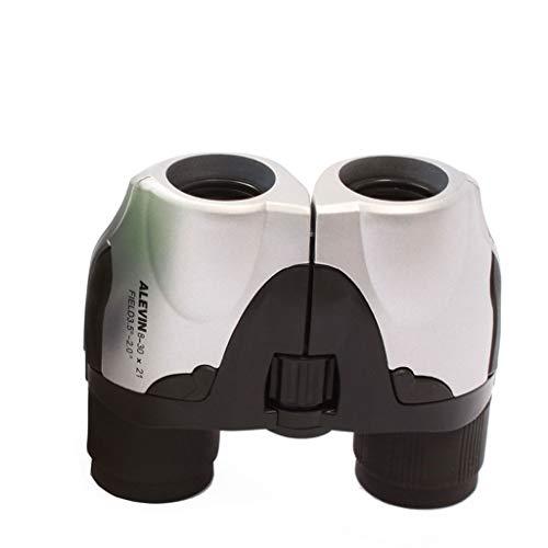 ZHAOJWYH Handheld HD Pocket 8x30 telescoop met verstelbare focus voor vogels kijken, sportevenementen en concerten, zwart en wit
