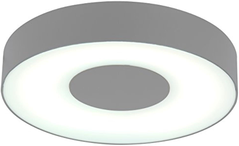 Eco Light Moderne Auenleuchte für Wnde oder Decken Ublo IP54, rund, Durchmesser 26,3 cm, silber 3481 L SI