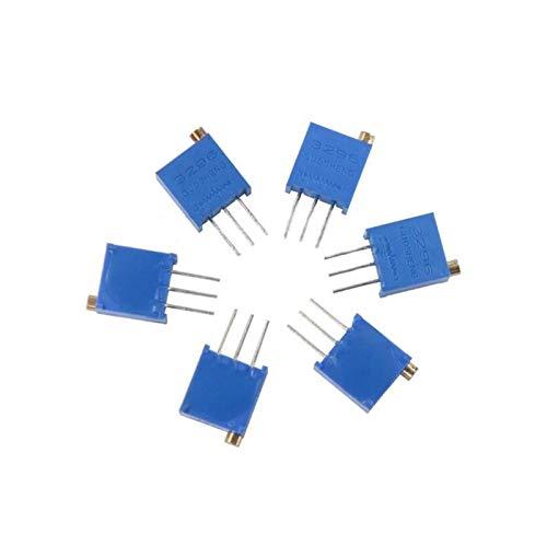 YSDSPTG Potentiometer 10pcs 3296W 1k 2k 5k 10k 20k 50k 100k 200k 500k 1M 1ohm Trim Pot Potentiometer Type (Resistance : 100K Ohm)