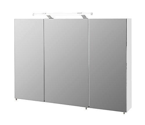 Schildmeyer Spiegelschrank, Melaminharzbeschichtete Spanplatte, weiß, 100 x 16 x 71 cm