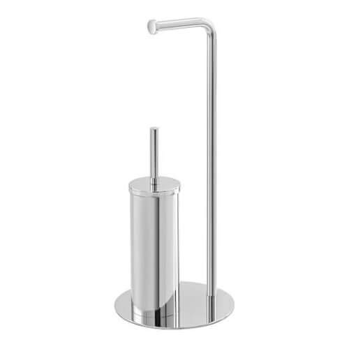 Feriras vloerlamp toiletborstel en rolhouder chroom