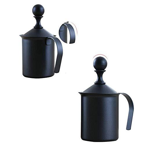Acciaio Inossidabile Montalatte Spessa in Acciaio Inossidabile 304 Materiale Senso Drink Mixer Durevole caffè Caldo Cioccolato Latte Cappuccino Fare (Dimensione: 800CC) WTZ012 (Size : 400CC)