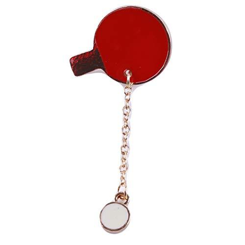 INSEET Einzigartige Badmintonschläger Ping Pong Paddle Emaille Broschen Rucksack Jacke Zubehör, Tischtennis