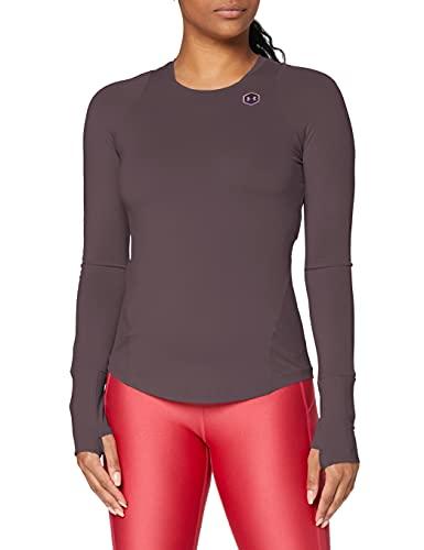 Under Armour Femmes haut de sport UA Rush, T-shirt manches longues avec technologie Rush, t-shirt fonctionnel à la coupe moulante
