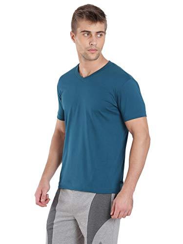 Jockey Men's Regular Fit T-Shirt (2726 _Seaport Teal_Large)