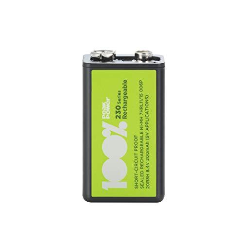 100{34a3fe4c41d51f41d930442c1d30d55ddeaffc386d938ade15d6dcc5a20f7968} PeakPower Akku 9 Volt Block (9V / PP3 / 20R8H) NiMH wiederaufladbare Batterie mit LSD Technologie, Ready2Use, bereits vorgeladen, Spannung 8,4V (8,4 Volt)