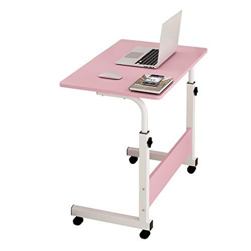 GUOQING Mobiler Laptop Schreibtischständer Schreibtisch Mobiler Pflegetisch Für Schlafzimmer, Wohnzimmer, Sofa Multifunktional Und Praktisch Laptopständer Pflegetisch (Color : Pink, Size : 60x40cm)
