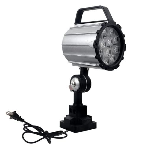 110V-220V, faro da lavoro multiuso regolabile, faro da lavoro a LED per tornio, fresatrice CNC, trapano, lega di alluminio, braccio corto (12)