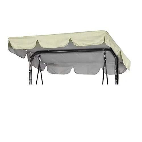Hollywoodschaukeldach, wasserdicht, 195 x 125 x 15 cm, Ersatzdach aus 210D Oxford, Sonnenschutz für Hollywoodschaukel, UV-beständig, wasserabweisend (beige, 195 x 125 x 15 cm)
