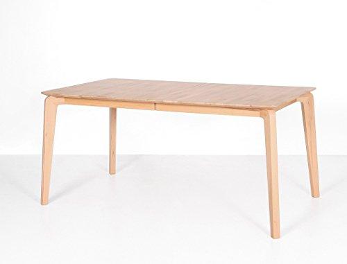 expendio hochwertiger Esstisch Linao A 140(180) x90 cm ausziehbar Eiche geölt Massivholztisch Designermöbel