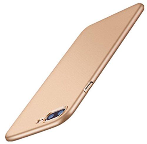 AIsoar - Carcasa compatible con iPhone 7 Plus – PC duro duro [Diseño ultrafino y ligero] [Protección contra los arañazos] [adherencia perfecta] Cover Bumper muy ligera (dorado)