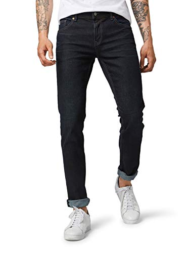 TOM TAILOR Denim Herren Aedan Straight Jeans, Dark Blue Denim, 36W / 36L