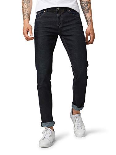 TOM TAILOR Denim Herren Aedan Straight Jeans, Dark Blue Denim, 28W / 32L