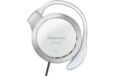 Panasonic RP-HS47E-W - Auriculares de Clip Compactos Plegables (108 dB, Auriculares Poliamida, Diseño ultradelgado, 3.5 mm, 32 Ohmio), Color Blanco