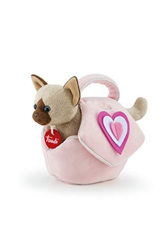 Trudi 29716 kat in roze hart pluche in de tas, beige, XS