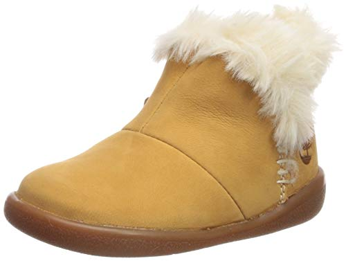 Timberland Unisex-Baby Toddle Tracks Faux Shearling Bootie Fashion Boot, Wheat Nubuck, 9 Medium US Toddler