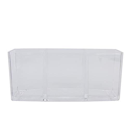 Organisateur cosmétique transparent de qualité supérieure de bureau en acrylique de forme rectangulaire, porte-pinceau de maquillage, boîte de rangement pour organisateur