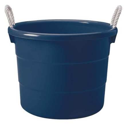 Storage Tub with Rope Handles, 18 Gallon, Navy Blue