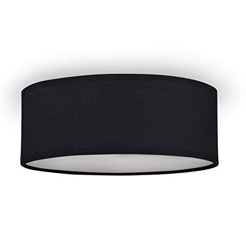 Smartwares 10.004.64 Deckenleuchte/ Textilschirm, 30 cm Ø, 2x E14, schwarz