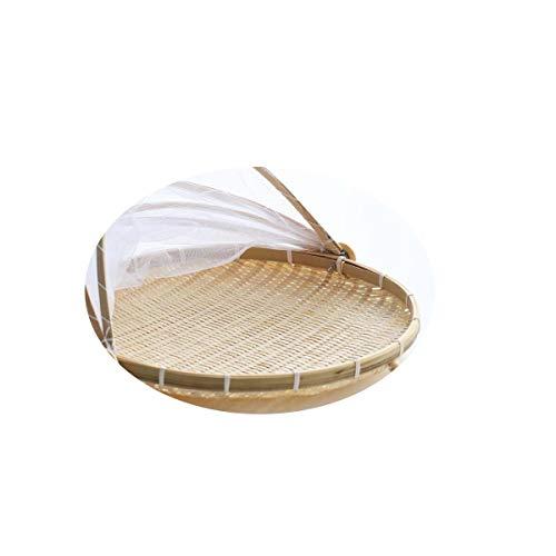 HUIJUNWENTI Haushalt Hacke Frame, runde Plakette, Bambus Ablagekorb, Fly Basket, Bauernhof Bambusprodukte, Bambus-Bildschirm, natürliche Farbe Hochwertige Produkte 7
