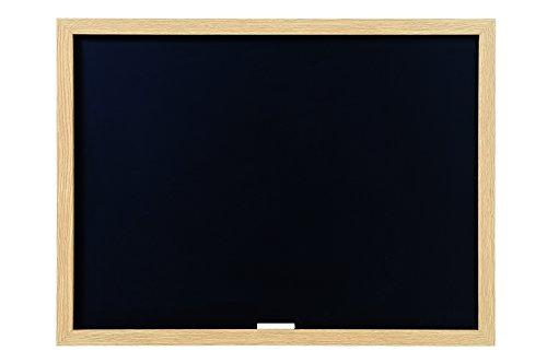 Bi-Office Optimum - Tableau à Craie Noir, 60 x 45 cm, Cadre en MDF Chêne