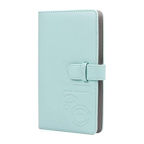 Yangjing 96 bolsillos de 3 pulgadas mini cartera álbum de fotos libro pu cubierta de cuero para mini película de papel fotográfico
