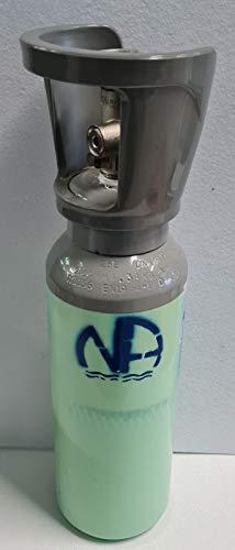 "NA NOVACQUA ®- Bombola Co2 2Kg. Ricaricabile Att. 1/2"" - H. 460"