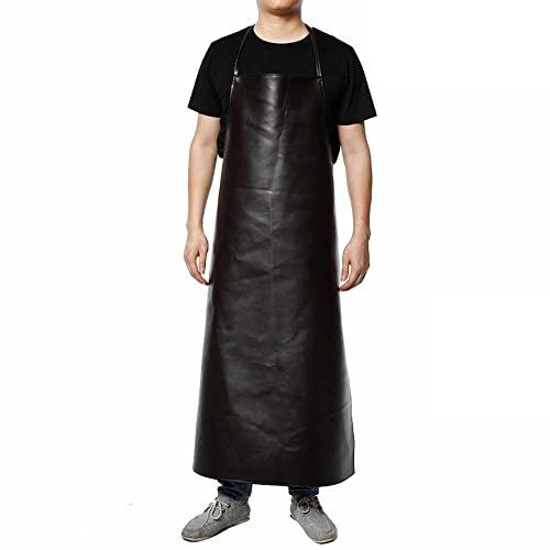 MJAHQ Tablier en cuir imperméable, type cou suspendu, résistant aux acides et aux alcalis, résistant à l'huile, unisexe, pour l'aquaculture, vêtements de...