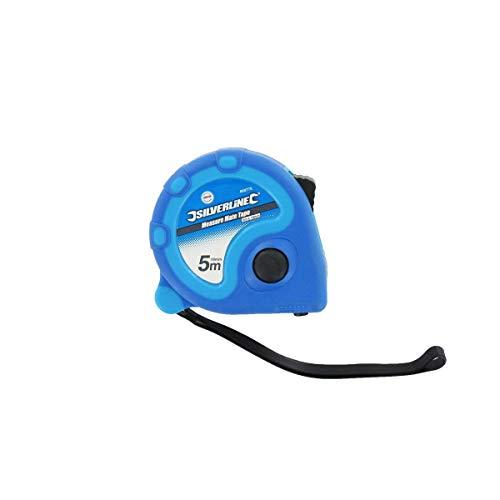 Silverline 868770 meetlint Measure Mate 5 m x 19 mm, blauw