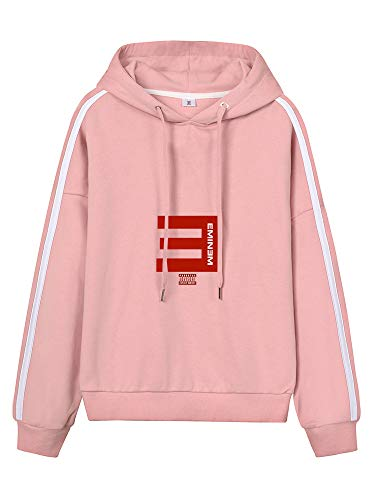 Eminem Pullover Frauen Casual Tunnelzug Hoodys gedruckt Einfach Pullover Sport Style Hoodies Unisex (Color : Pink10, Size : Height-175cm(Tag L))