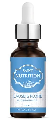 Saint Nutrition LÄUSE & FLÖHE Liquid für Haustiere bei Ungeziefer Befall – Natürliches Schutzschild für Laus & Floh mit SOFORTWIRKUNG – reines Naturprodukt für Katzen und Hunde