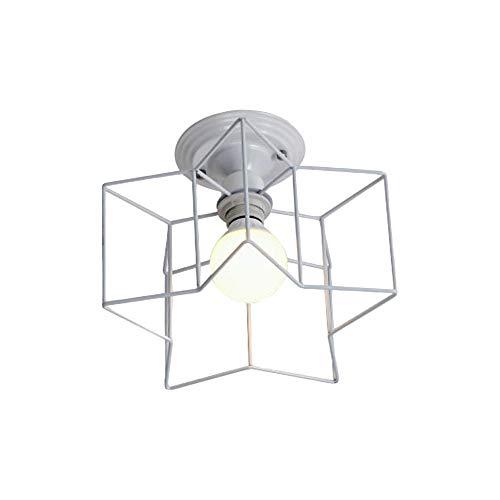 Wankd Pentagram plafondlamp in zwart – extravagante lamp met opvallende klep en lichteffecten aan het plafond – kamerlamp voor woonkamer – hal – planken – slaapkamer (zwart)