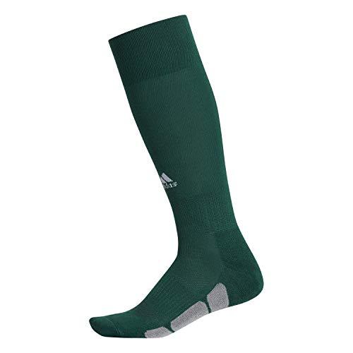 adidas Unisex Utility All Sport Socks (1-Pair), Dark Green/White/Light Onix, 13C-4Y